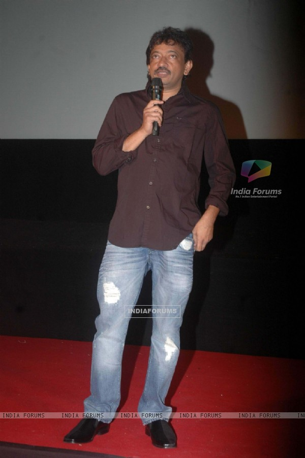 Ram Gopal Verma at RGV's Not a Love Story press meet in Cinemax