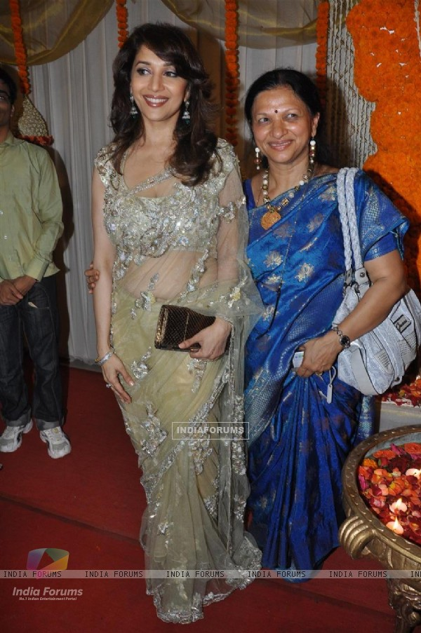 Madhuri Dixit at wedding reception party of Dr.Abhishek and Dr.Shefali Khar
