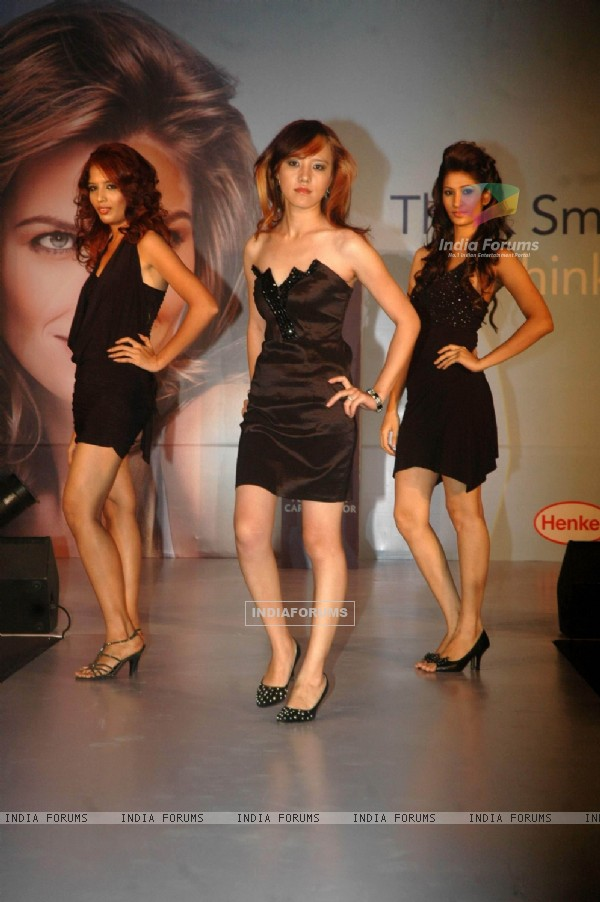 Models at a glamrous fashion show to launch Indola cosmetics in India at Goregaon