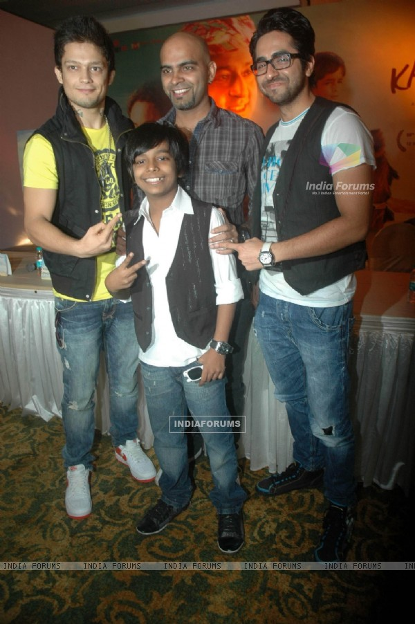 Ayushman Khurana and Raghu Ram at I Am Kalam film promotional event at Sea Princess