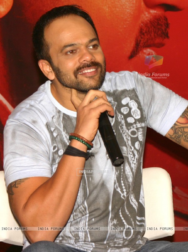 Rohit Shetty at a press meet to promote his film 'Singham', in New Delhi