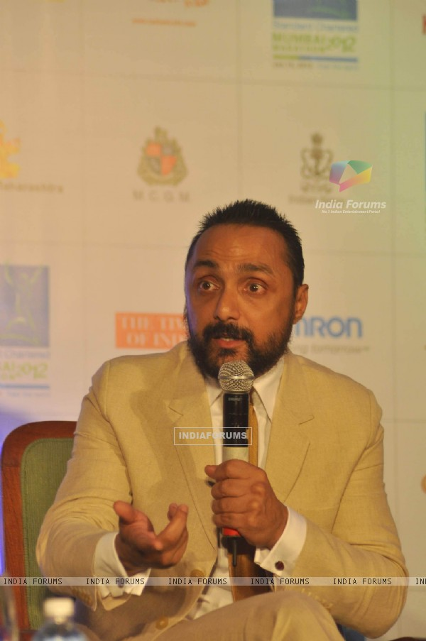 Rahul Bose at Mumbai marathon press meet, Trident
