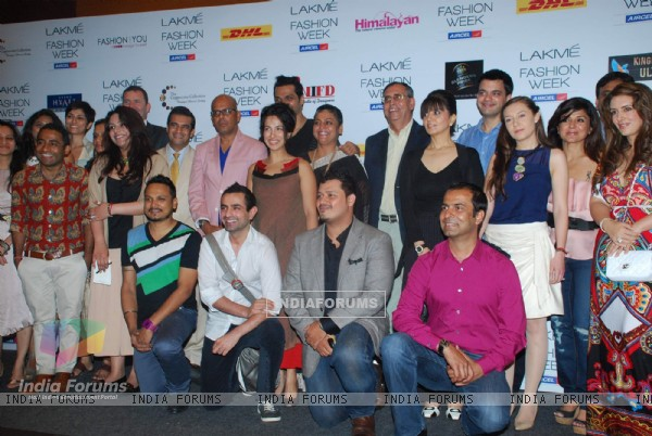 Celebs at Lakme Fashion Week press meet