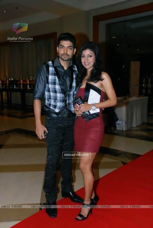Gurmeet Gurmeet and Debina at an event