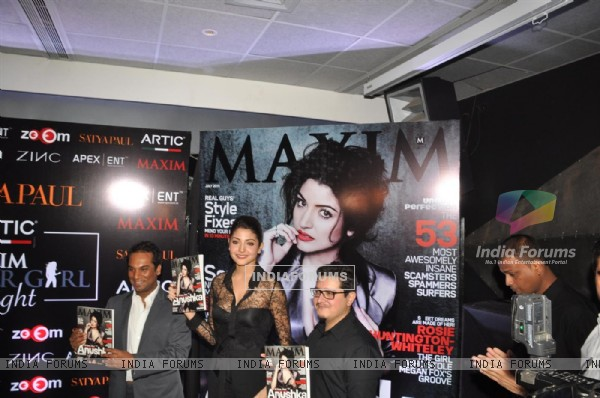 Anushka Sharma unveiling the 'MAXIM' magazine covers page of the year