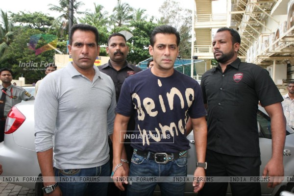 Salman Khan at the first look of movie Bodyguard