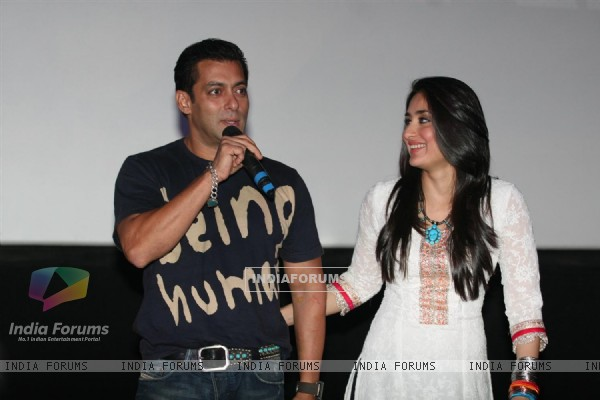 Salman and Kareena Kapoor at the first look of movie Bodyguard