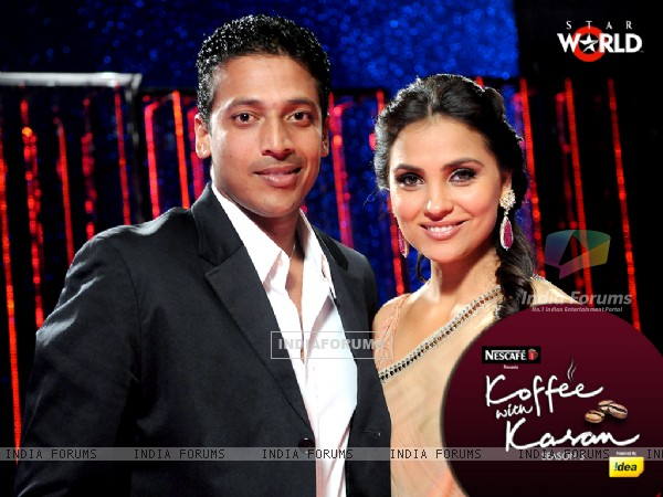 Lara Dutta with Mahesh Bhupati on Koffee with Karan