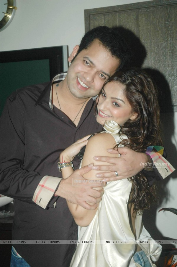 Rahul Mahajan with Dimpy on his Birthday