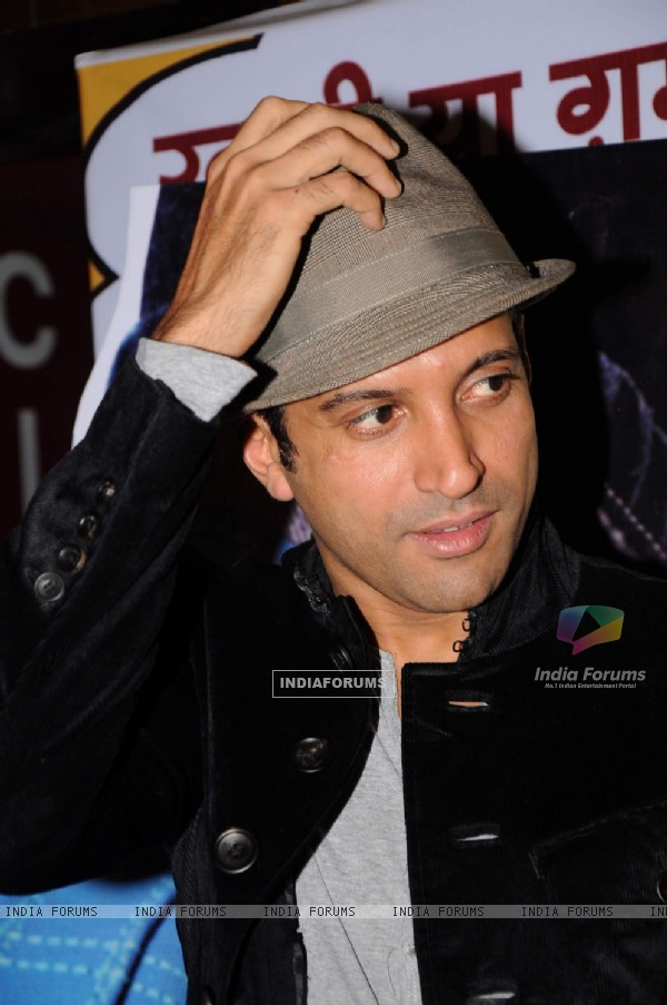 Farhan Akhtar at premiere of Buggle Gum at Cinemax