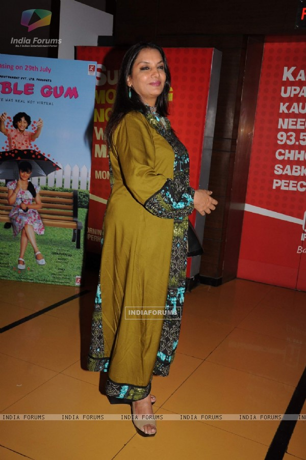 Shabana Azmi at premiere of Buggle Gum at Cinemax. .