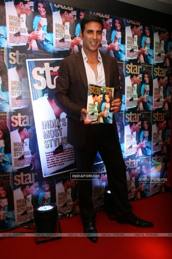 Akshay Kumar at launch of Star Week Magazine at C'estla Vie in Bandra, Mumbai