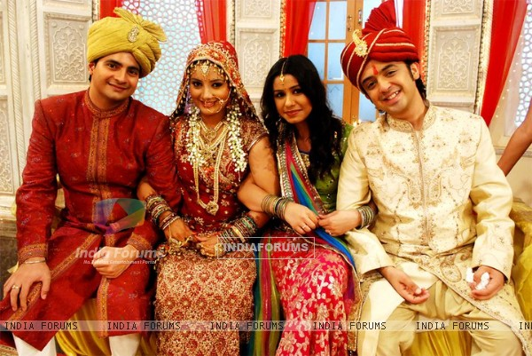 Nandini & Mohit with Naitik and Rashmi in their wedding
