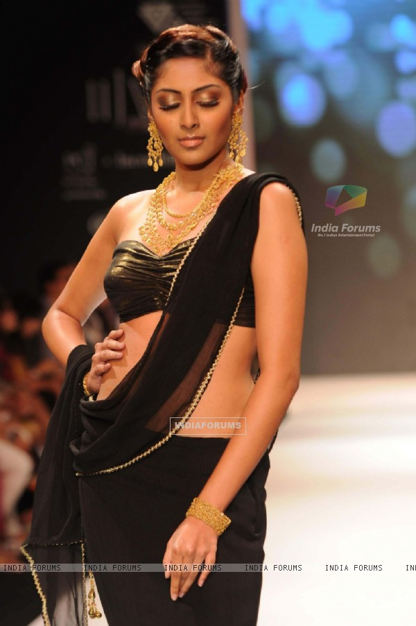 Models walks the ramp for CVM Exports day 2 at IIJM 2011