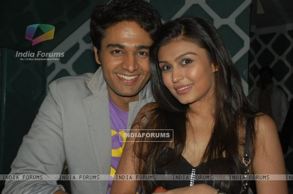 Gaurav Khanna with Simran Kaur on his birthday