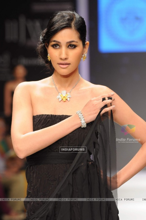 Models walks the ramp for Alpana Gujral at IIJW 2011 Day 4. .