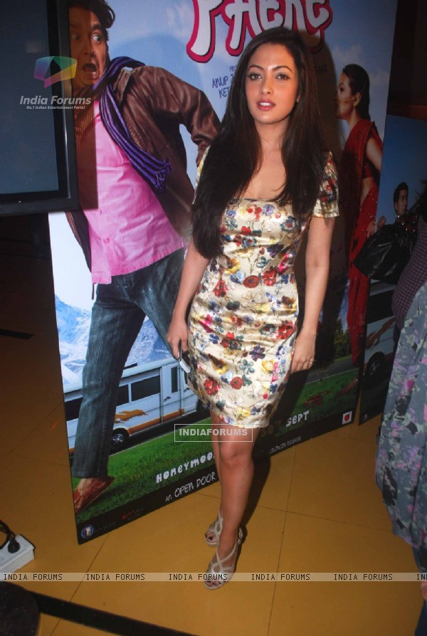 Riya Sen and Vinay Pathak grace the screening of Tere Mere Phere at the launch of 'Open Door Films Ltd' at Cinemax