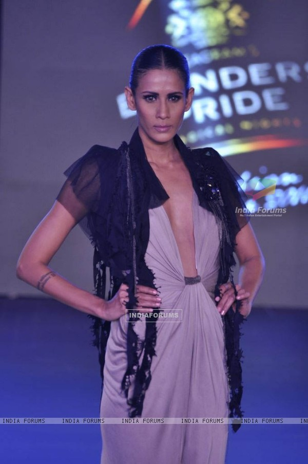 Model walks the ramp for designers Rohit Gandhi and Rahul Khanna's collections at Blenders Pride Fashion Tour day 2. .