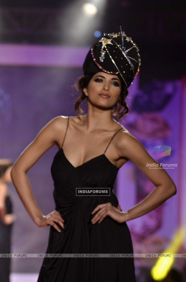 Model at Swarovski Gems and Archana Kocchar Show. .