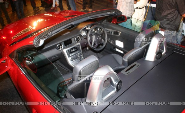 The launch of  Mercedes Benz's new SLK 350, in New Delhi on Wednesday. .