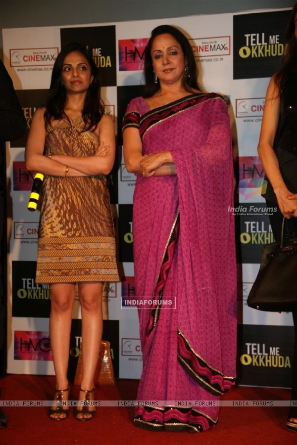 Hema and Esha Deol unveil the film 'Tell Me O Kkhuda' look at Cinemax