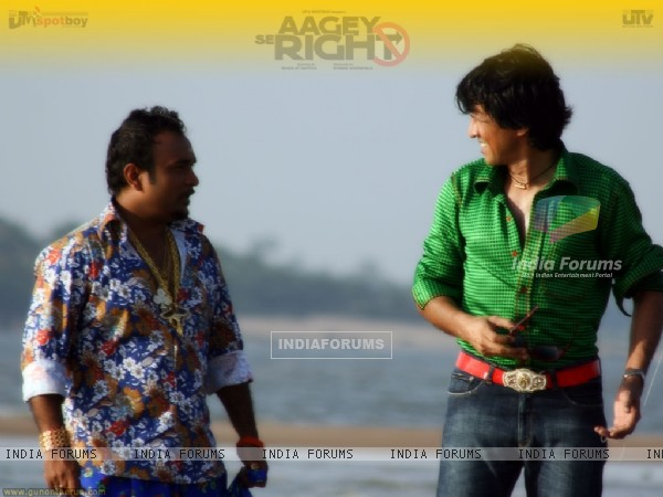 Kay Kay Menon talking to a man