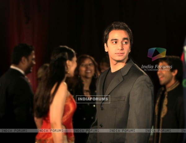 Anubhav Anand looking dashing in black coat