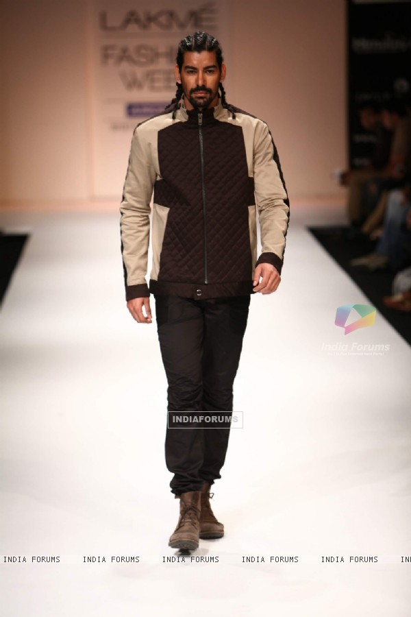 Model walk on the ramp for designer Amalraj Sengupta and Sanjay Hingu at Lakme Fashion Week 2011 Day 2, in Mumbai