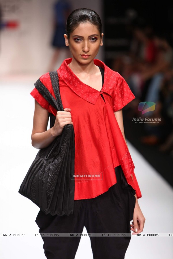 Model walk on the ramp at Lakme Fashion Week 2011 Day 2, in Mumbai