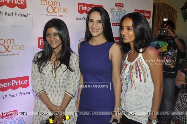 Suchitra Pillai, Tara Sharma and Konkona Sen Sharma at the launch of Tara sharma Show
