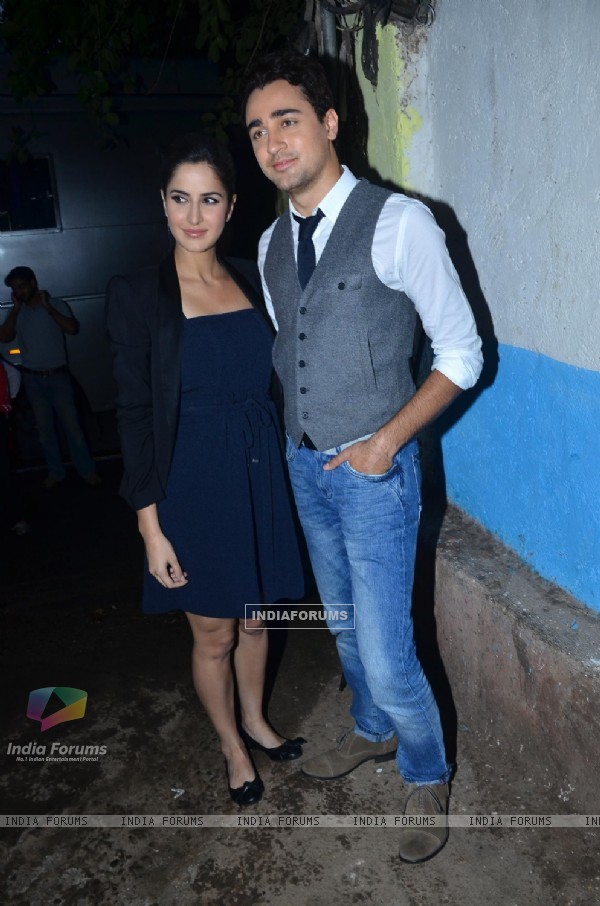 Imran Khan and Katrina Kaif on the sets of Comedy Circus. .