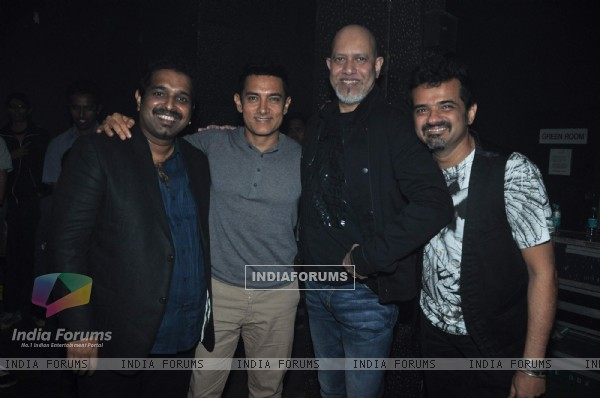 Shankar, Ehsaan, Loy and Aamir Khan at SEL celebrate 15 years of Togetherness