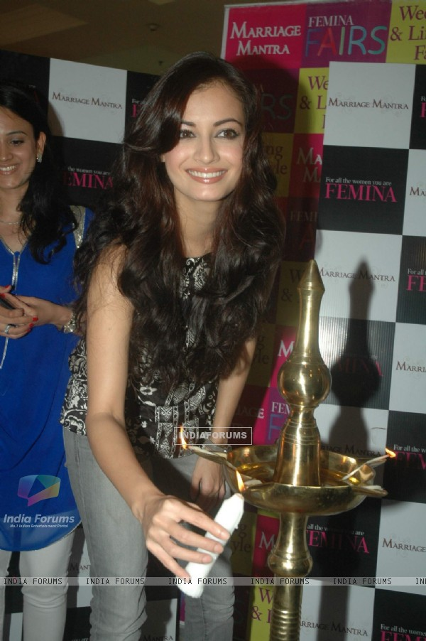 Dia Mirza at Femina Fair at JW Marriott