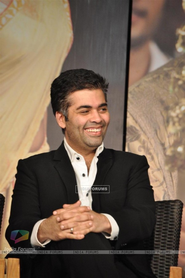 Karan Johar at 'Agneepath' trailer launch event at JW.Mariott