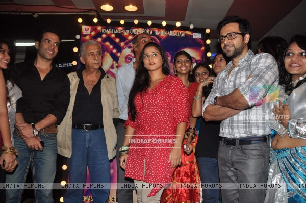 Naseeruddin, Emraan, Tusshar and Vidya Balan at first look of 'The Dirty Picture' at Bandra