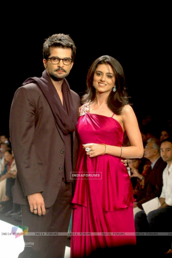 RaQesh with wife Riddhi Dogra for a Jewellery Show