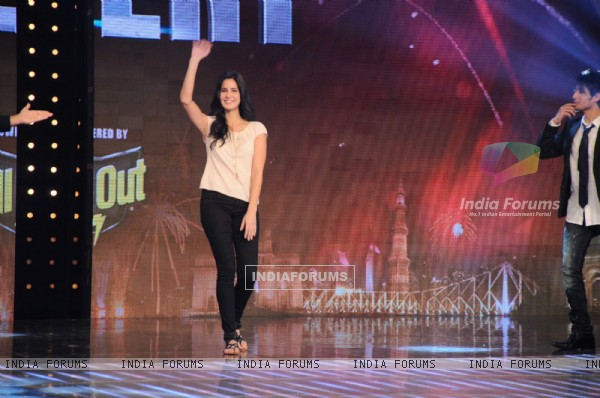Imran Khan and Katrina Kaif on the sets of India's Got Talent. .