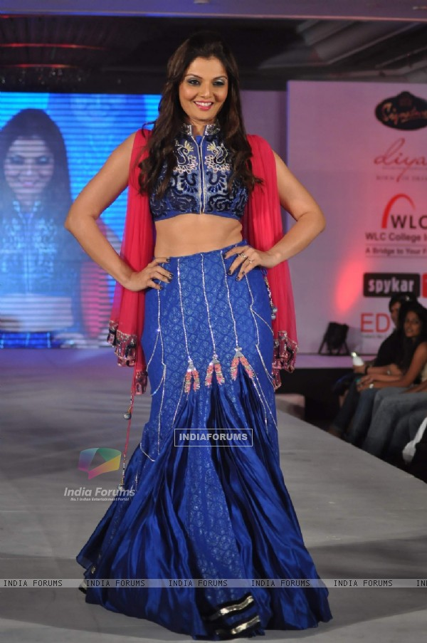 Deepshikha Nagpal walks the ramp for WLC Chimera fashion show at Leela Hotel