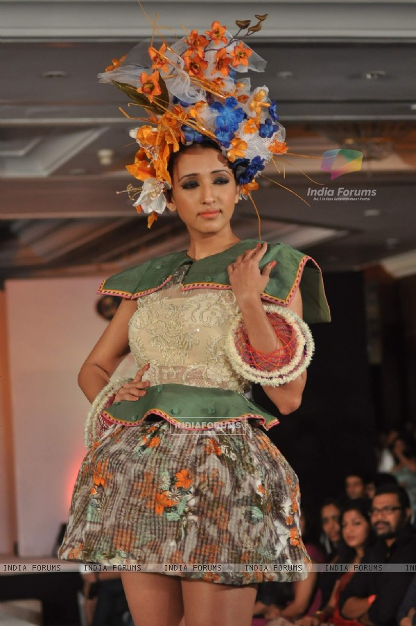 Models walks the ramp for WLC Chimera fashion show at Leela Hotel