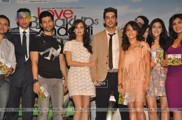 Cast and Crew at Music launch of film 'Love Breakups Zindagi' in Mumbai