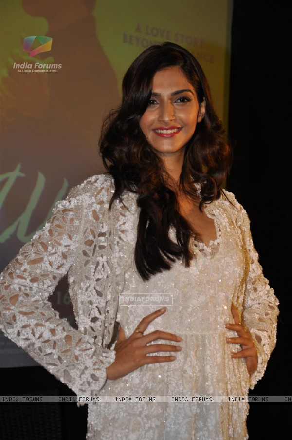 Sonam Kapoor at Music success party of film 'Mausam' at Hotel JW Marriott in Juhu, Mumbai