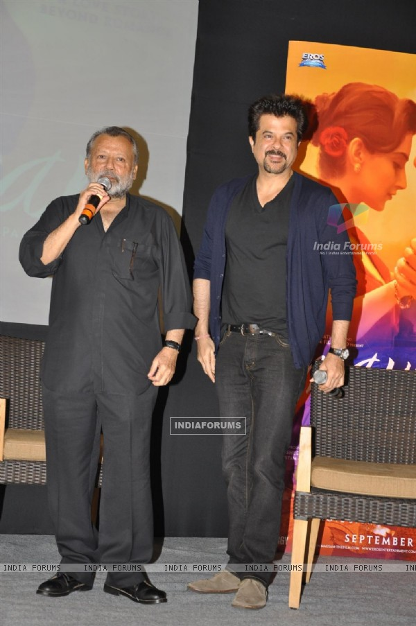 Anil and Pankaj Kapoor at Music success party of film 'Mausam' at Hotel JW Marriott in Juhu, Mumbai