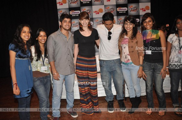 Prateik Babbar and Kalki Koechlin at UTV Bindass promotional event, KC College