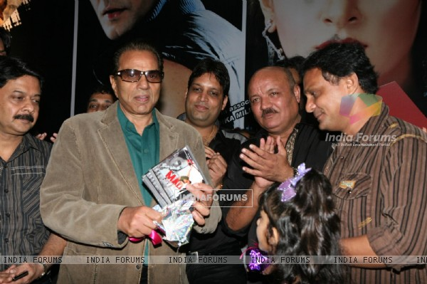 Dharmendra with cast at MAD film music launch at Andheri in Mumbai