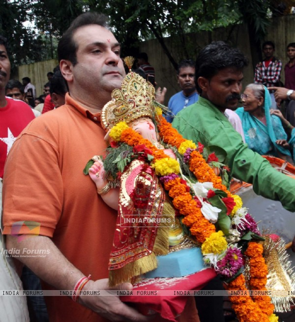 Rajiv Kapoor at RK Studio Ganapati Immersion