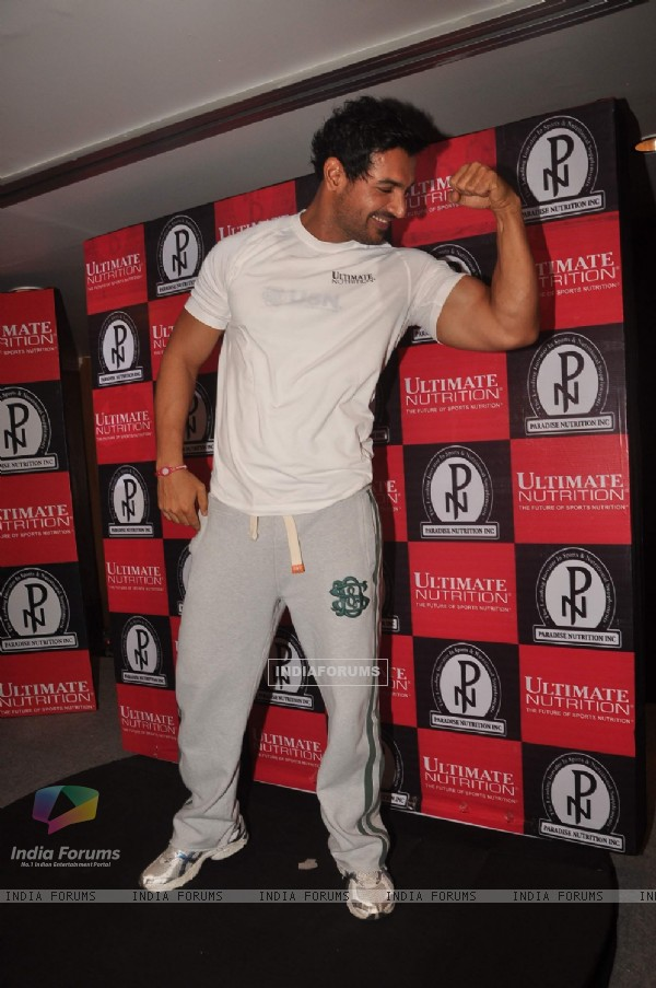 John Abraham launches Ultimate Nutrition at Trdient Nariman Point