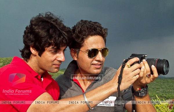 Gauav Khanna with Karan Wahi in Ritz JeeLe Ye Pal