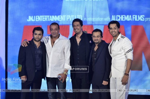 Sanjay Dutt launches the music of film Aazaan with star cast of film at Sahara Star