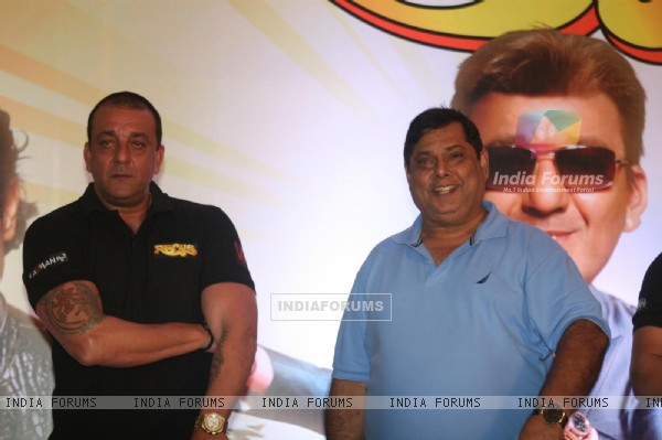 Sanjay Dutt and David Dhawan at Film 'Rascals' music launch at Hotel Leela in Mumbai
