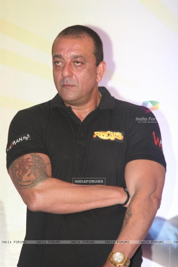 Sanjay Dutt at Film 'Rascals' music launch at Hotel Leela in Mumbai